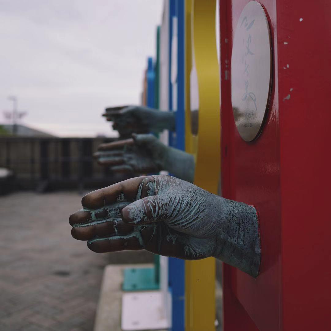 Sculpted hands